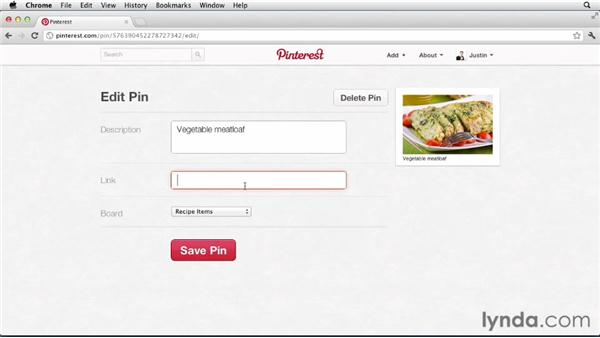 Saving recipes: Up and Running with Pinterest