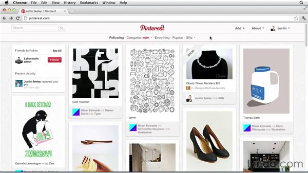 Browsing and purchasing gifts: Up and Running with Pinterest