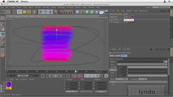043 Animating a paint streak with Photoshop and C4D: Design in Motion
