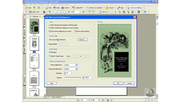 adding watermarks: Learning Acrobat 6