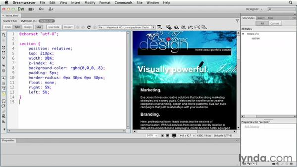Creating a mobile layout: Creating a First Web Site with Dreamweaver CS6