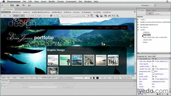 Customizing the style: Creating a First Web Site with Dreamweaver CS6
