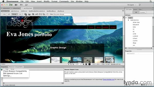 Testing the web site: Creating a First Web Site with Dreamweaver CS6