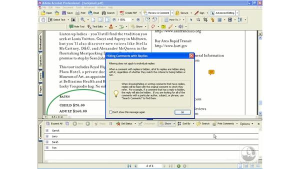 managing and reviewing comments: Learning Acrobat 6