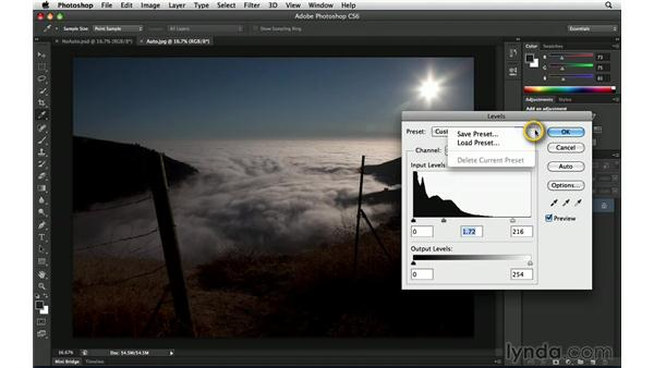 Exploring strategies for using Auto: Photoshop Insider Training: Enhancing Photos