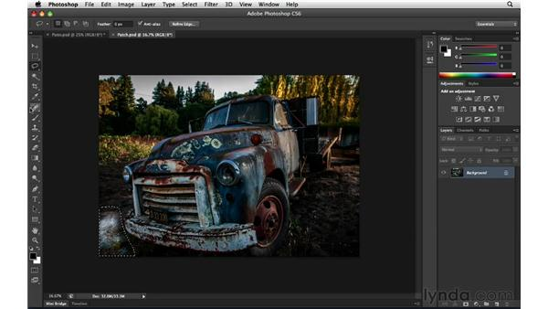 Beyond fill: Content-Aware Patch: Photoshop Insider Training: Enhancing Photos