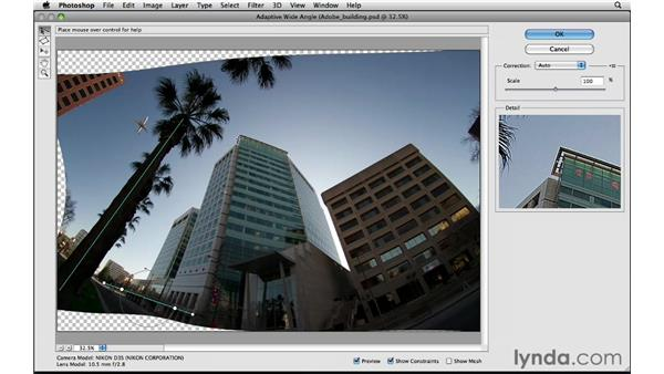 Getting the most out of Adaptive Wide Angle: Photoshop Insider Training: Enhancing Photos