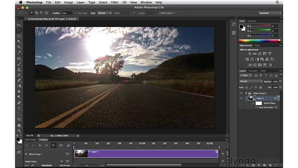 Exploring lens distortion and video: Photoshop Insider Training: Enhancing Photos