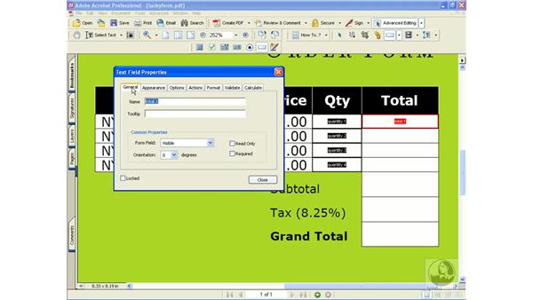 preparing for field calculations: Learning Acrobat 6
