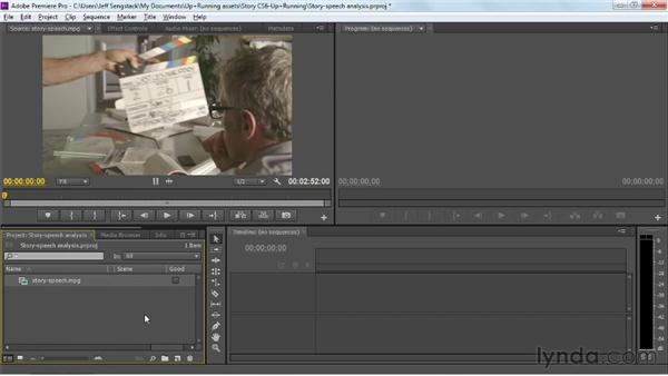 Attaching scripts to clips in Premiere Pro: Up and Running with Adobe Story