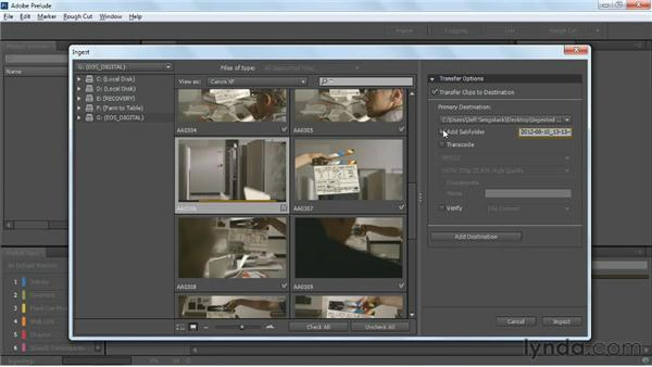Transcoding trimmed and full-length clips: Up and Running with Prelude CS6