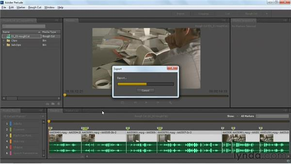 Exporting projects to Premiere Pro: Up and Running with Prelude CS6