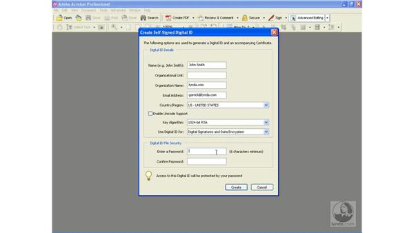creating a user profile: Learning Acrobat 6