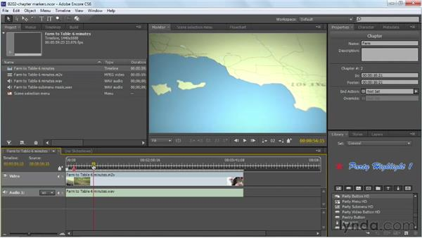 Adding timeline chapter markers and poster frames: Up and Running with Encore CS6