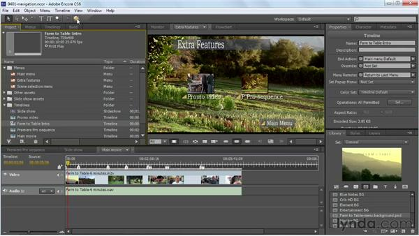 Explaining project navigation: Up and Running with Encore CS6