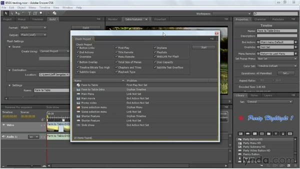 Previewing and testing your project: Up and Running with Encore CS6
