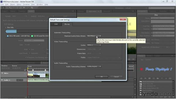 Burning a DVD or a Blu-ray disc: Up and Running with Encore CS6