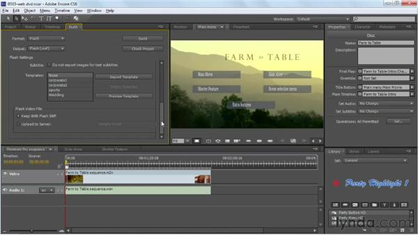 Exporting a web DVD: Up and Running with Encore CS6