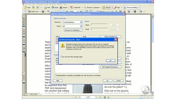 encrypt for certain identities: Learning Acrobat 6