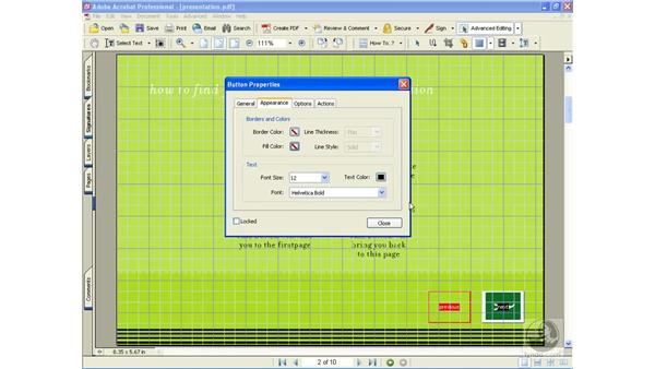 adding buttons: Learning Acrobat 6