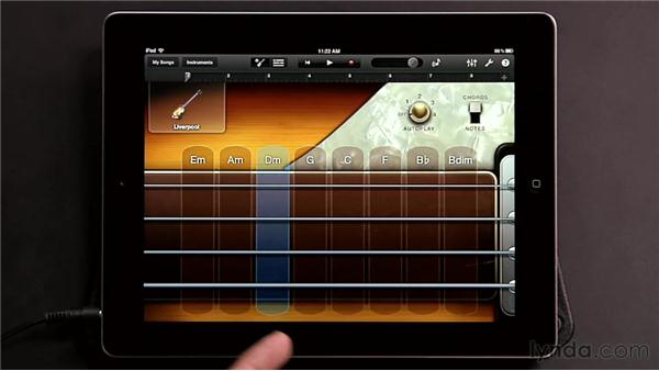 Getting to know the GarageBand for iPad interface: GarageBand for iOS Essential Training