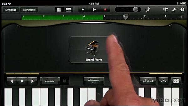 Setting up your song: GarageBand for iOS Essential Training
