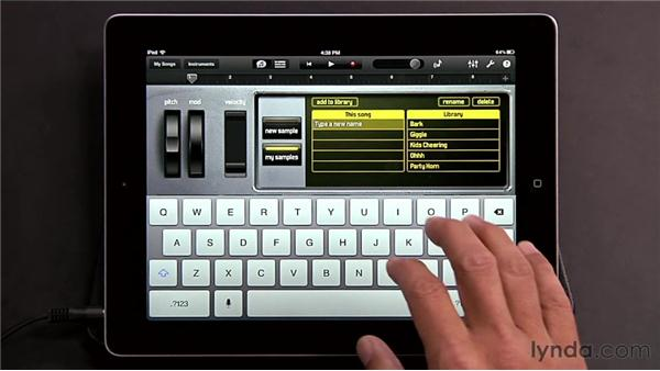 Using the sampler: GarageBand for iOS Essential Training