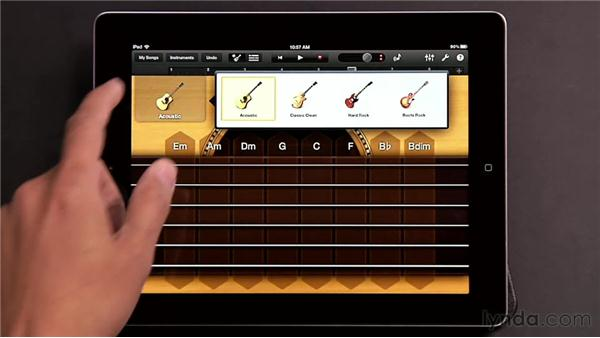 Playing Smart Guitar and Smart Bass: GarageBand for iOS Essential Training