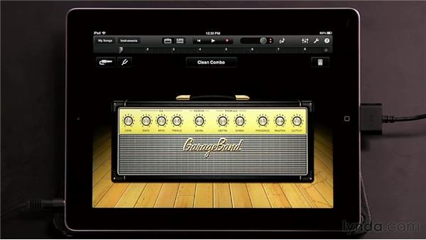 Using guitar amps and stompboxes: GarageBand for iOS Essential Training
