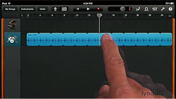 Working with Apple loops: GarageBand for iOS Essential Training