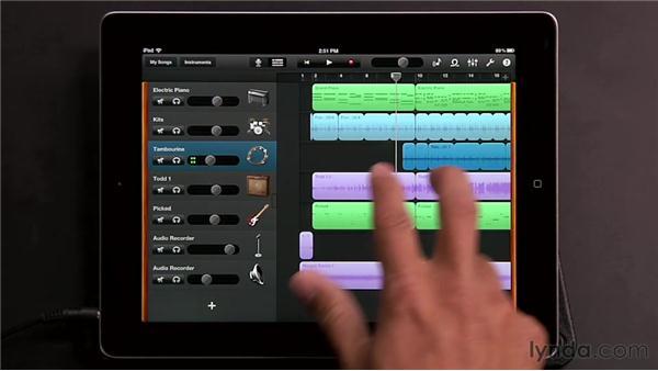 Mixing in GarageBand: GarageBand for iOS Essential Training