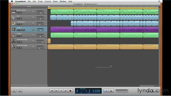 Continuing your work in GarageBand for Mac: GarageBand for iOS Essential Training