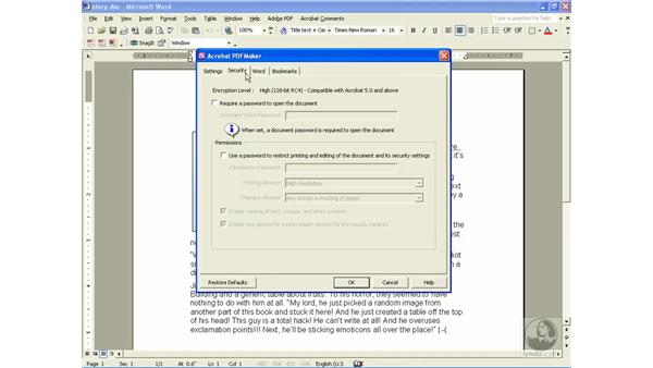 creating a tagged PDF: Learning Acrobat 6