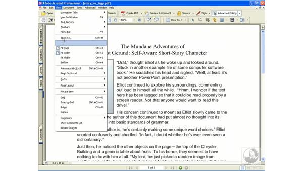 auto-scroll and read out loud: Learning Acrobat 6