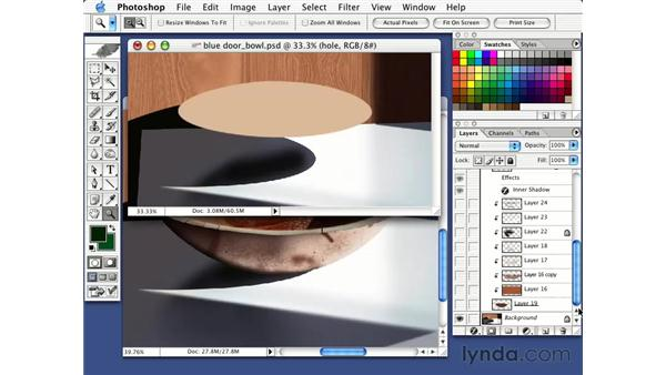 making a bowl using layers: Photorealism with Bert Monroy: Volume 1
