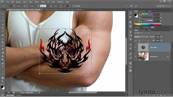 Three ways to place a Smart Object: Photoshop CS6 One-on-One: Advanced