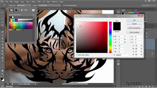 Copying and pasting from Adobe Illustrator: Photoshop CS6 One-on-One: Advanced