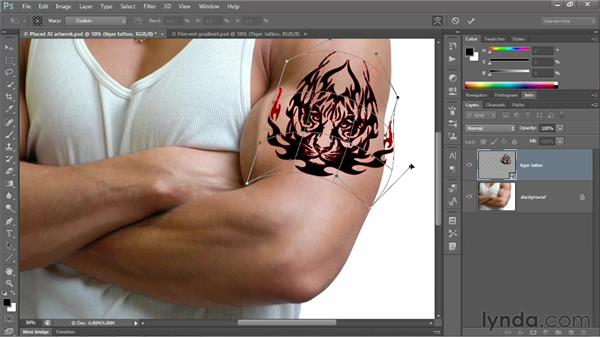 Transforming and warping a vector object: Photoshop CS6 One-on-One: Advanced
