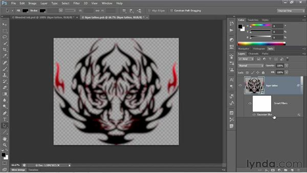 Blurring with a nested Smart Filter: Photoshop CS6 One-on-One: Advanced