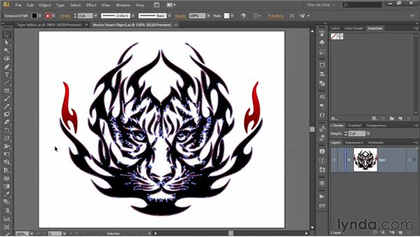 Editing a Smart Object in Illustrator: Photoshop CS6 One-on-One: Advanced
