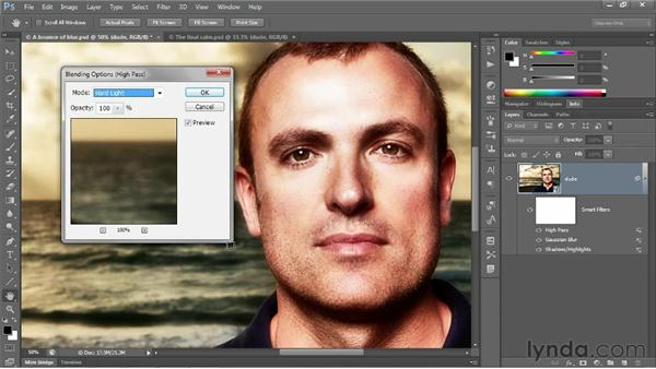 Sharpening on top of blur: Photoshop CS6 One-on-One: Advanced
