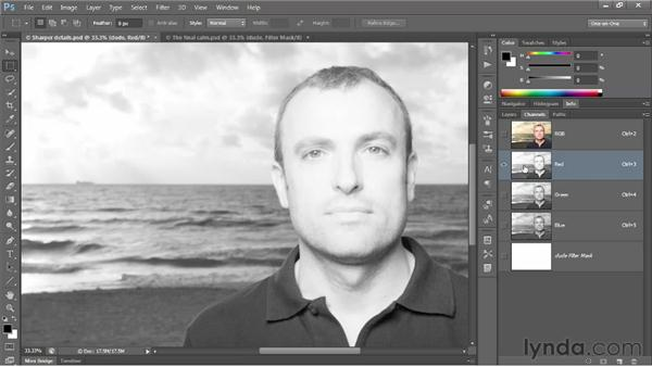 Masking a group of Smart Filters: Photoshop CS6 One-on-One: Advanced