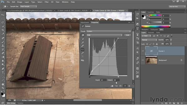 The new automatic Curves function: Photoshop CS6 One-on-One: Advanced