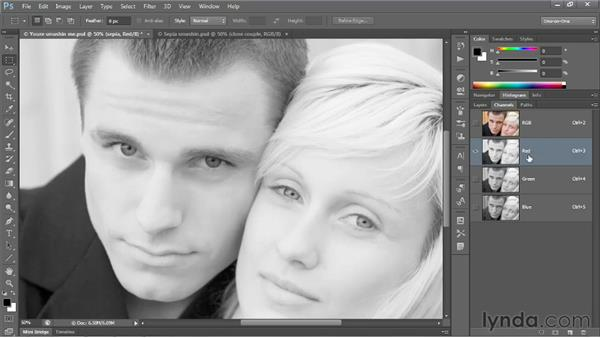 Creating a professional-quality sepia tone: Photoshop CS6 One-on-One: Advanced