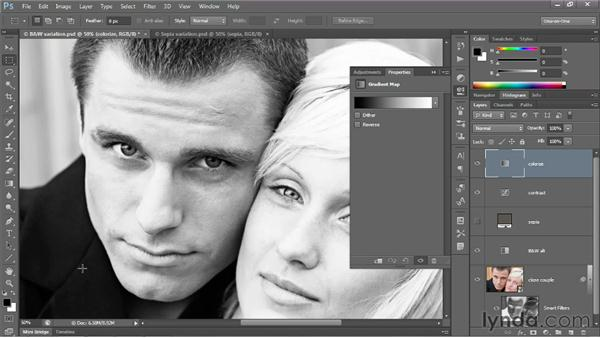 Introducing the Gradient Map adjustment: Photoshop CS6 One-on-One: Advanced