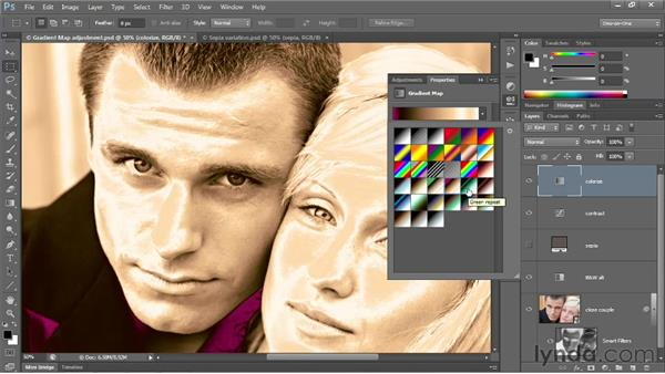 Loading a library of custom gradients: Photoshop CS6 One-on-One: Advanced