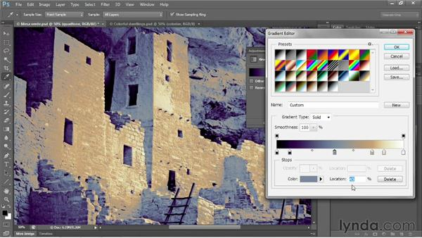 Creating a custom quadtone: Photoshop CS6 One-on-One: Advanced