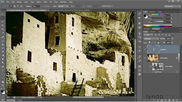 Colorizing with blend modes and Opacity: Photoshop CS6 One-on-One: Advanced