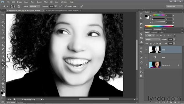 Creating a faux-color, high-key effect: Photoshop CS6 One-on-One: Advanced
