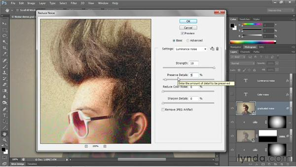 Introducing the Reduce Noise filter: Photoshop CS6 One-on-One: Advanced